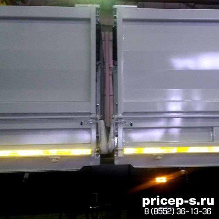 самосвальный полуприцеп зерновоз с двумя кузовами