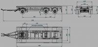 прицеп контейнеровозный под мультилифт 3-остный